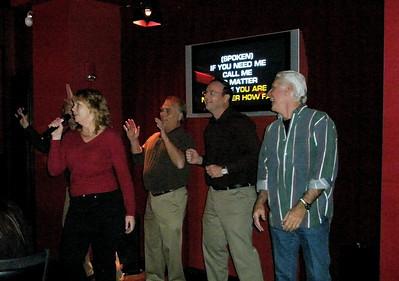 Atlantic City Karaoke jam...Joni, Barry, Bryan and Kevin  Dec 2007