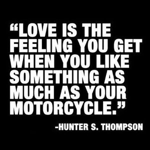 Hunter S Thompson on Love