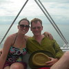 Melissa and I following a storm-foiled attempt to snorkel with whale sharks in Belize.