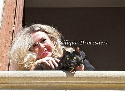 Recently in Florence Italy, on a bright late December day looking out from my  home for four months , my apartments in the Villa Corsi Salviati with my cat Cleopatra!