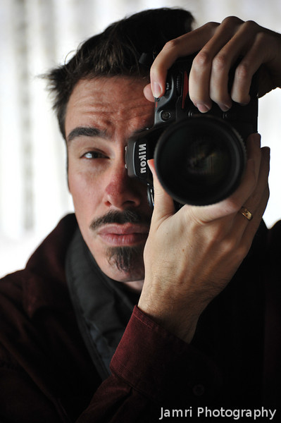 Self Portrait with the Nikon D700.<br /> My favourite camera that I've had now for over 6 years.