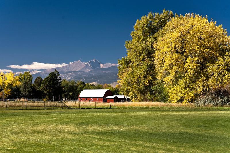 Meeker Peak and Longs Peaks from Campion, Colorado (near Loveland CO) Fall, 2008.