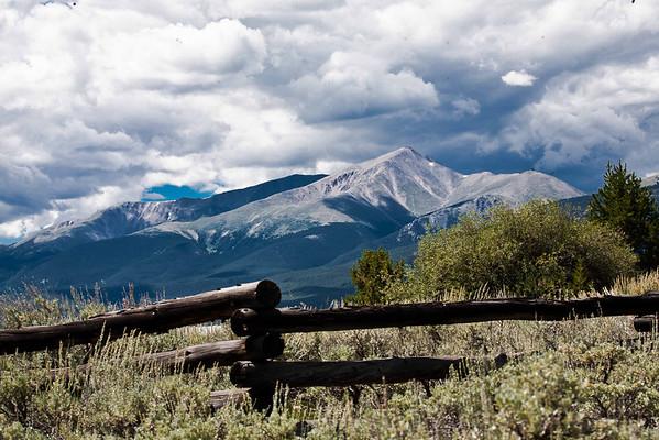 Mount Elbert, Colorado's tallest, from Leadville, CO August, 2010.