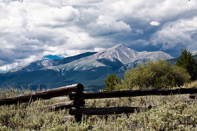 Mount Elbert, Colorado's tallest, from Leadville, CO August, 2010.