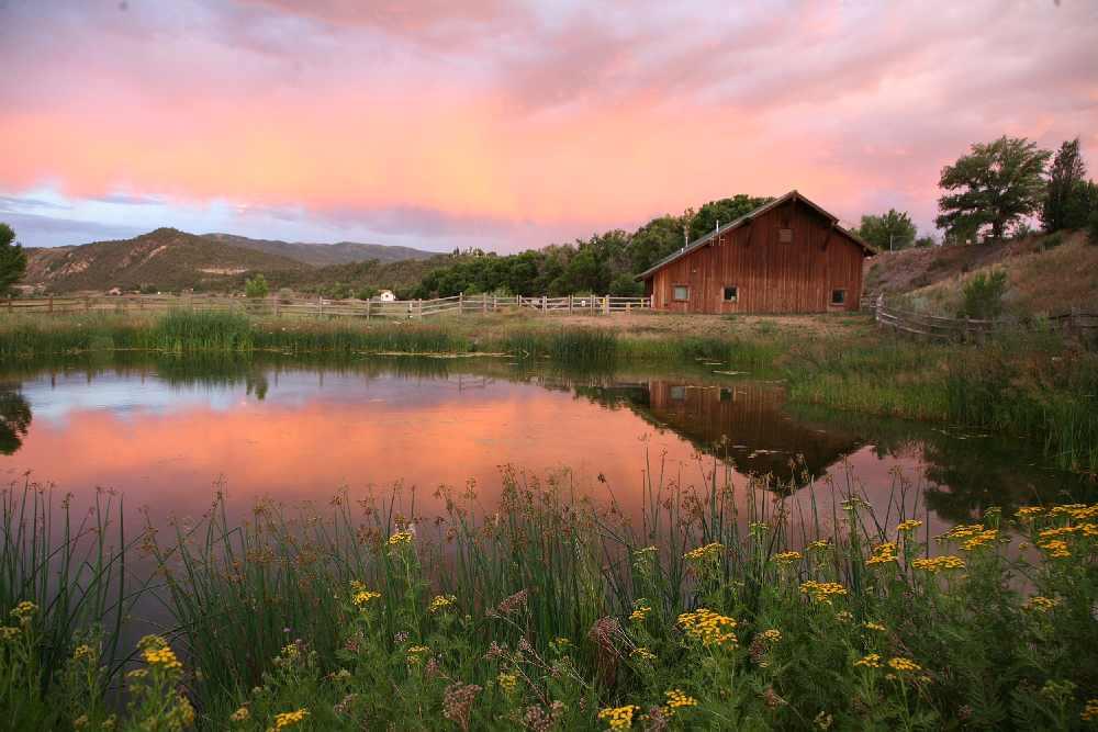 Sunset scene at Carbondale, near Aspen, Colorado, August, 2010