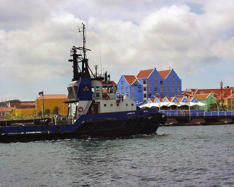 Tugboat in Curacao harbor