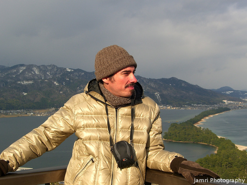 A Winter Portrait.<br /> At the lookout to view Amanohashidate in Northern Kyoto Prefecture. Near the Japan Sea.<br /> Photo by Ritsuko.