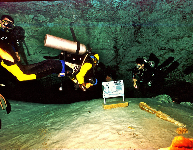 *Danger! Cave divers