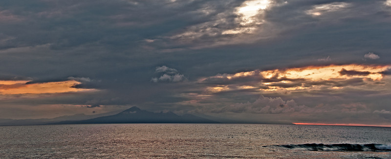 View of Bali from Lombok
