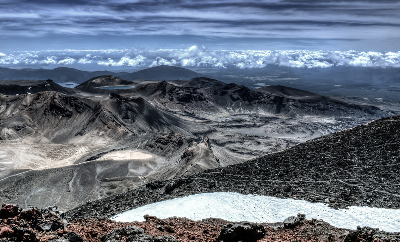 View from Mt Ngauruhoe.