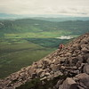 Climb to viking tomb, Isle of Skye, Scotland, 1999