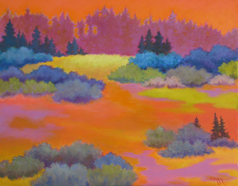 """""""A Place to Wander""""  •   24"""" x 30""""   • Acrylic on Canvas"""