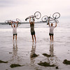 End of a Pacific to Atlantic bicycle ride across the U.S.A. - Crescent Beach, Maine, 1995