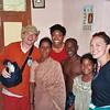 Melissa, Karen, and I visit with Ram's family, Mahabalipuram, Tamil Nadu, India, 2003