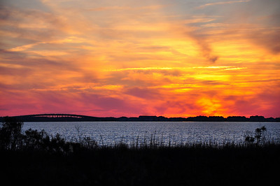 Sunset over Albemarle Sound, Outer Banks NC