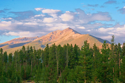 Peak One, Two, and Three of the Ten Mile Range which stretches Frisco to south of Breckenridge, CO