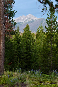 Peaks One and Two in the Ten Mile Range stretching from Frisco to south of Breckenridge, CO. July, 2010.