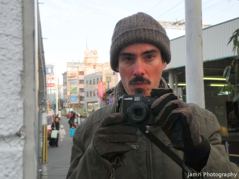 Self Portrait with the Nikon Coolpix P7100.<br /> Easy to operate with gloves on, unlike most smaller P&S cameras!
