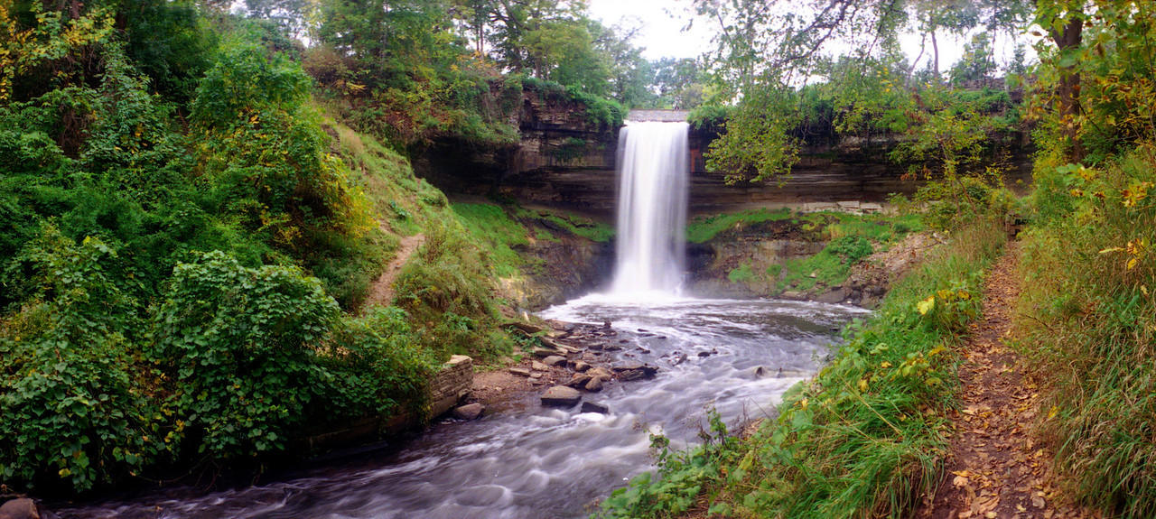 MN- Mpls - Minnehaha Falls - pano - cropped 8x17 in