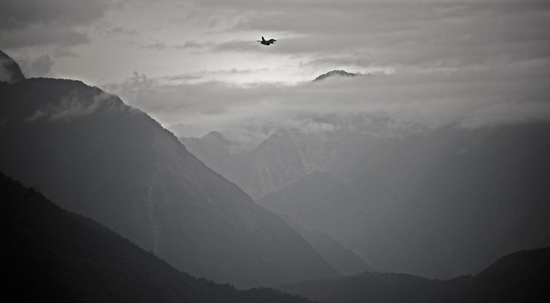 F16s taking off from an airbase at Hualien.