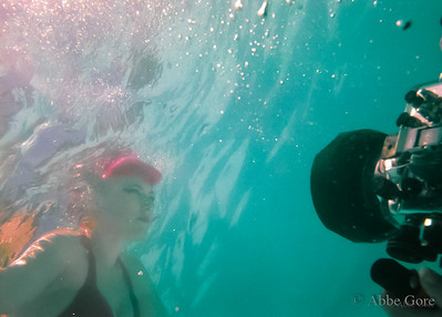 Underwater Fashion Modeling