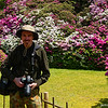 Among the Azaleas<br /> In the gardens of Mimuroto-ji (a Buddhist Temple) in Uji city, Kyoto prefecture, Japan.<br /> Photographer Unknown