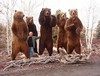Big Boys, all 5...the fellow with them is the Alaskan Taxidermist that created these standing mounts....