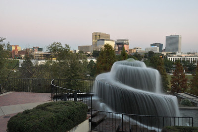 Skyline of Columbia, SC from Finlay Park
