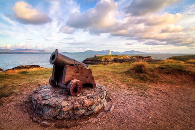 Little Cannon at Llanddwyn Island, Newborough Warren, Anglesey, Wales
