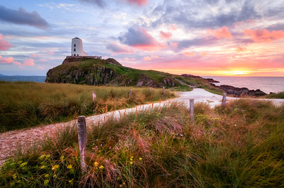 Dramatic Sunset at Twr Mawr, Llanddwyn Island, Newborough Warren, Anglesey, Wales