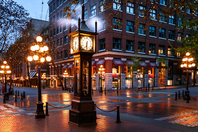 Gastown Steam Clock, Vancouver, British Columbia, Canada