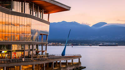 The Drop, Bon Voyage Plaza, Coal Harbour Neighborhood, Vancouver, British Columbia, Canada