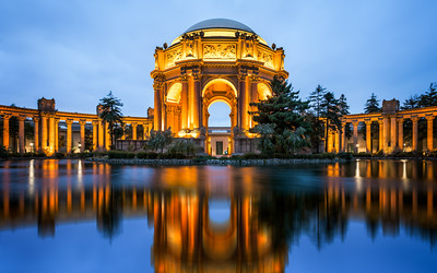 Blue Hour, Palace of Fine Arts, San Francisco, California, America