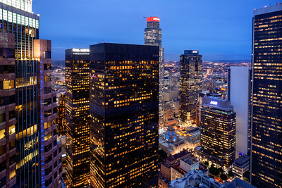 Elevated View, Downtown, Los Angeles, California, America