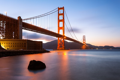 Golden Gate, Sunset, San Francisco, California, America