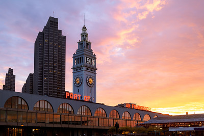 Port of San Francisco, Ferry Building, San Francisco, California, America