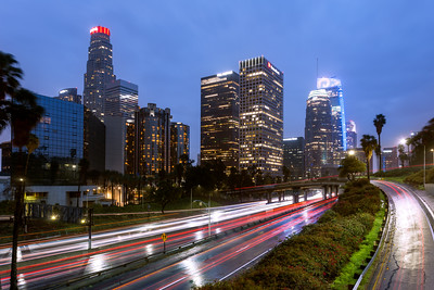 Blue Hour, Los Angeles, California, America