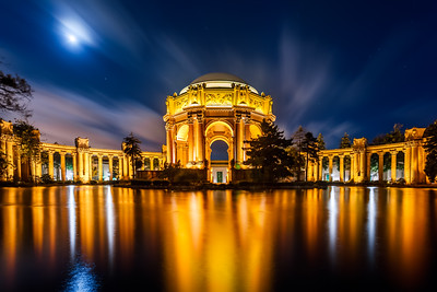Night, Palace of Fine Arts, San Francisco, California, America