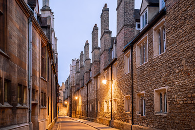 Early Morning, Trinity Lane, Cambridge, Cambridgeshire, England
