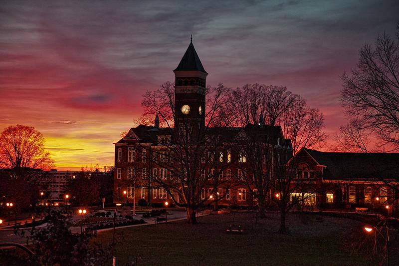 """Winter Sunset over Clemson"""