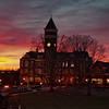 """Winter Sunset over Clemson"""