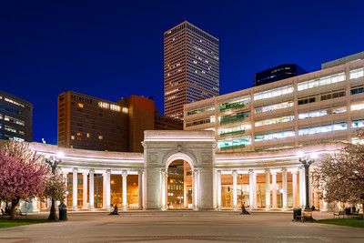Night, Civic Center Park, Denver, Colorado, America