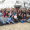 "Group Picture of Pharmacy students and medical students outside the ""dome"" where the pharmacy was located (Healing Hearts Across Borders Feb2012)"