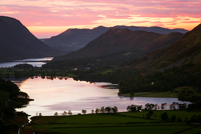 Dramatic Sunset, Buttermere, Lake District, Cumbria, England