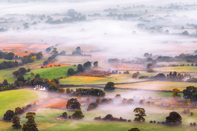Misty Fields, Keswick, Lake District, Cumbria, England