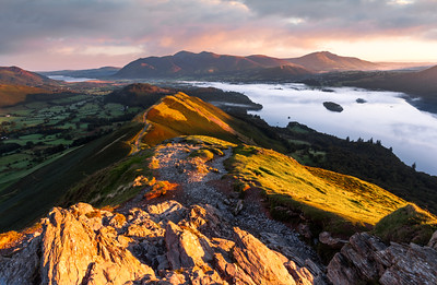 First Light, Cat Bells, Keswick, Cumbria, Lake District, England