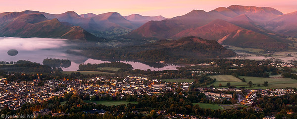 Keswick, Pano, Lake District, Cumbria, England
