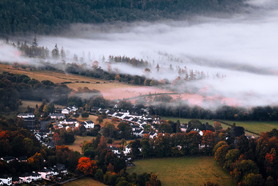Autumn, Mist, Keswick, Lake District, Cumbria, England