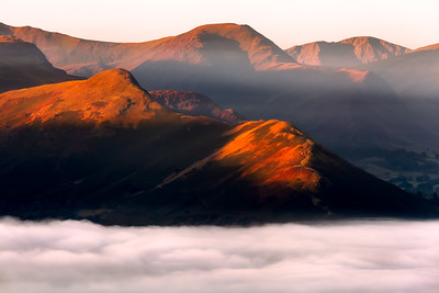 Misty, Cat Bells, Keswick, Lake District, Cumbria, England