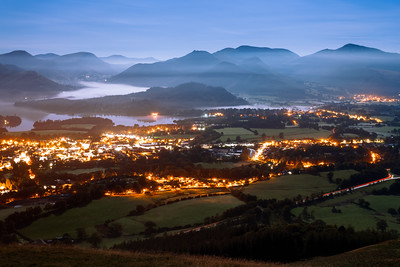 Early Morning over Keswick, Lake District, Cumbria, England